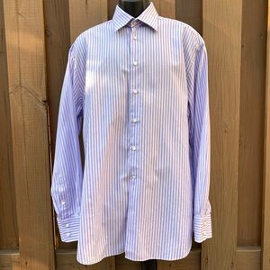Armani Collezioni Cotton Striped Dress Shirt